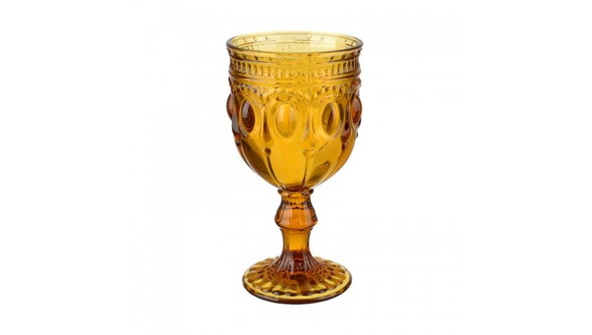 Бокал желтый из стекла окрашенного в массе (набор 6шт)