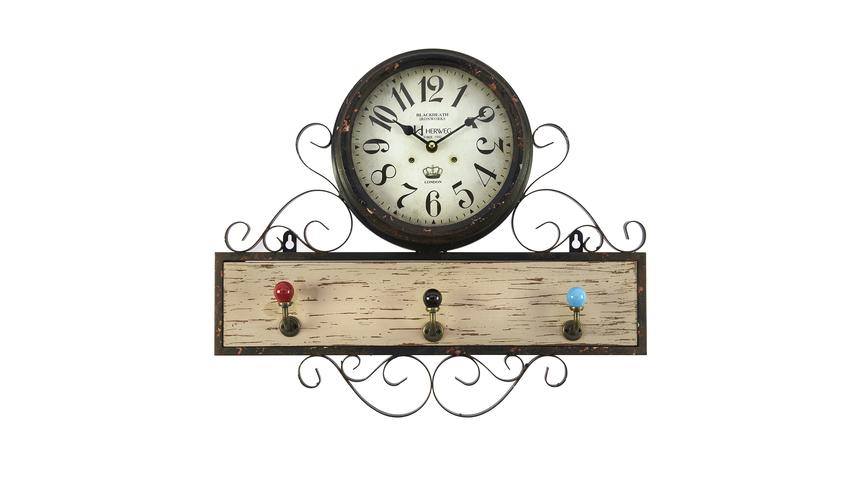 Часы настенные с вешалкой