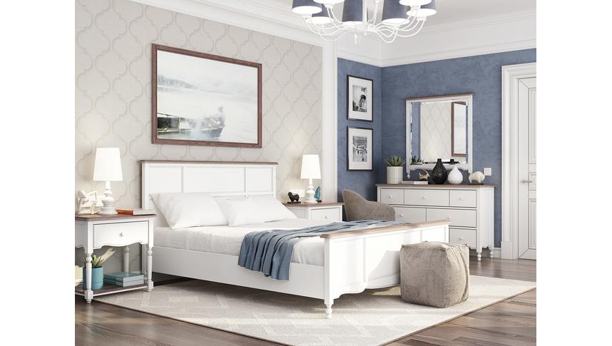 Кровать Leblanc, двуспальная, белая