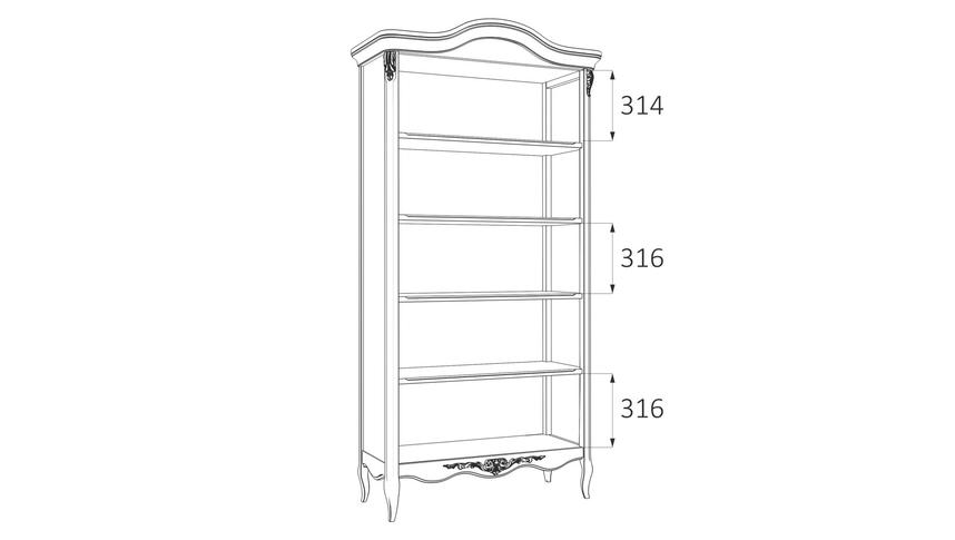 Книжный шкаф R137-K03-A