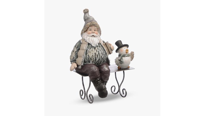 Дедушка с Птичкой на Скамейке (Полистоун)