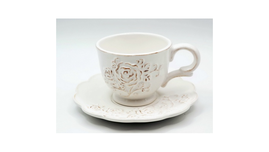 Чашка с блюдцем 13х10х7,5/16х16х2 MC08-0049