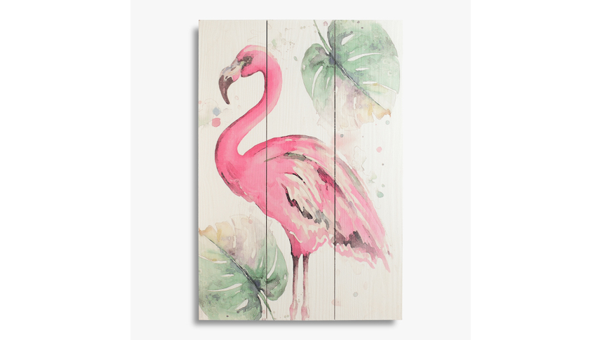 Панно Pink flamingo
