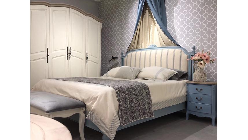 Шкаф 4-х дверный White Rose, итальянский орех-белый