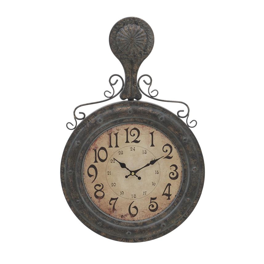 Часы на стену - коричневые