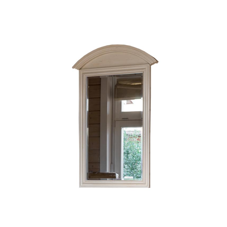 Прямоугольное зеркало настенное Leontina, бежефое