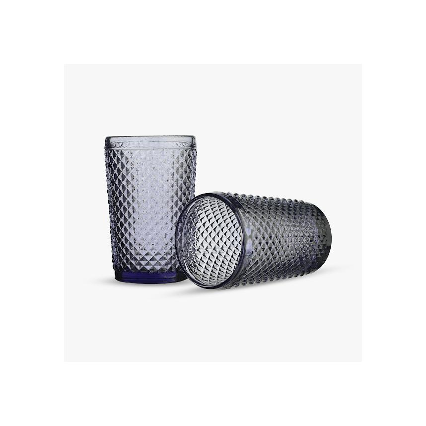 Стакан для Воды Нежный Фиолетовый Ромбик 300 ml (набор 6 штук)