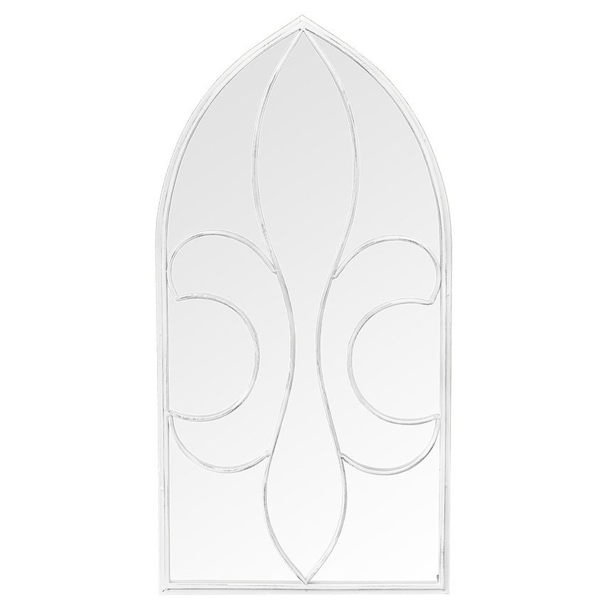 Настенное зеркало «Флореаль» (белый антик)