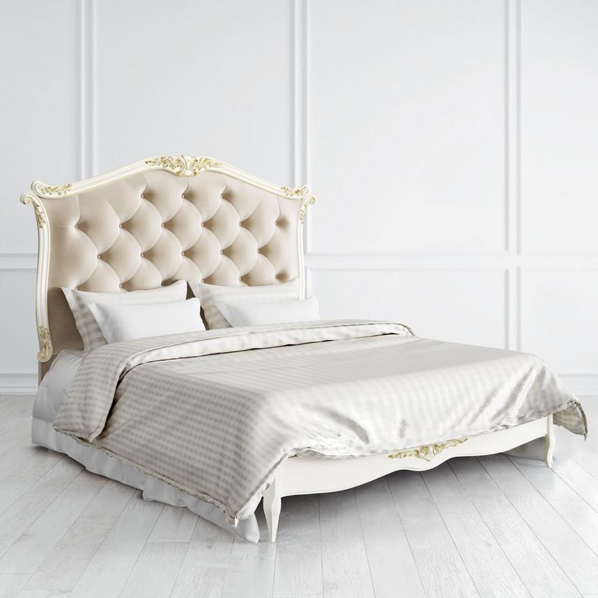 Кровать с мягким изголовьем и утяжкой 160*200 Atelier Gold
