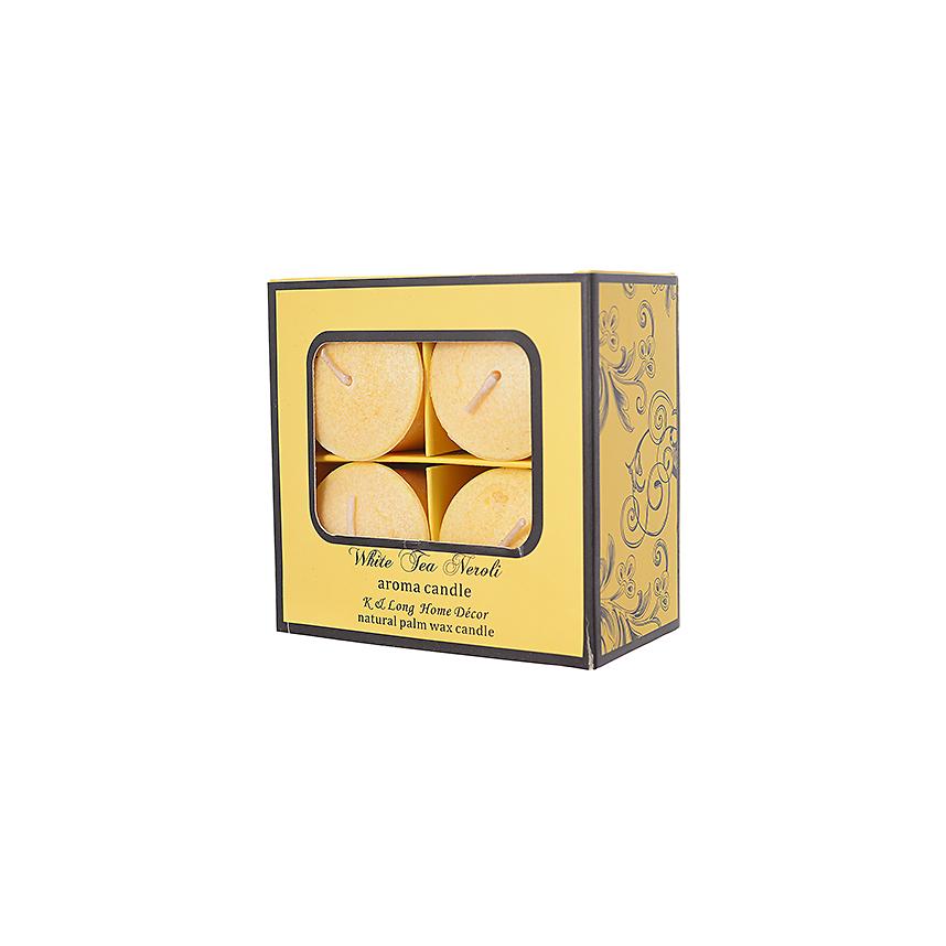 Набор ароматических свечей Белый чай - нероли 10х10х6 см