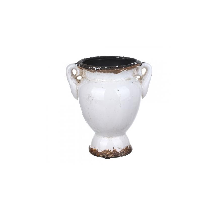 Ваза белая S 17x13x18,5, LC08-0015