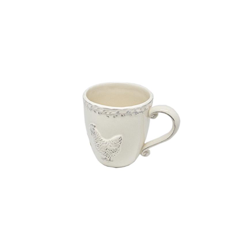 Чашка керамическая белая 17х13см (от 4х шт) T06604-2