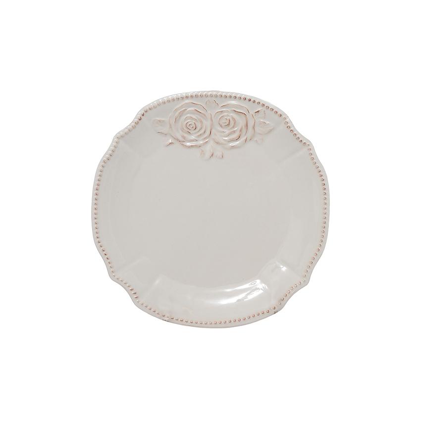 Тарелка керамическая белая 26 см T18608-1