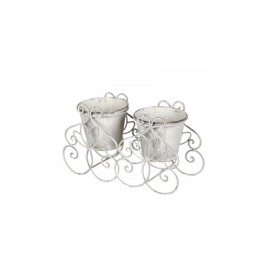 Кашпо для 2-х цветков 34х15х20 YH02-0004