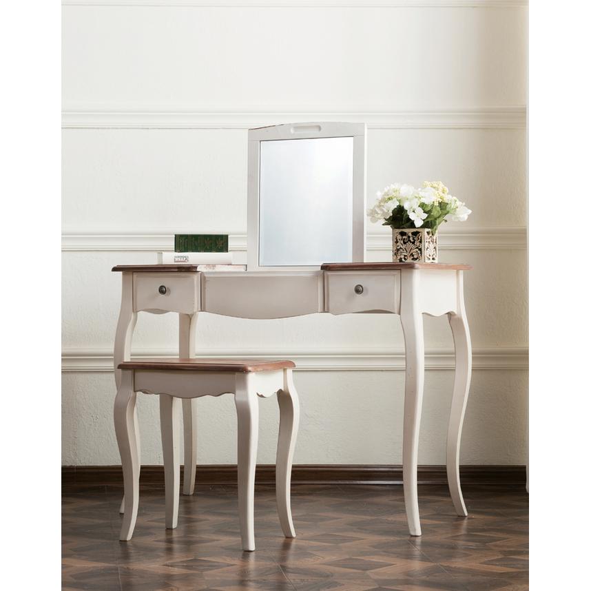 Макияжный столик с зеркалом Leontina, бежевого цвета