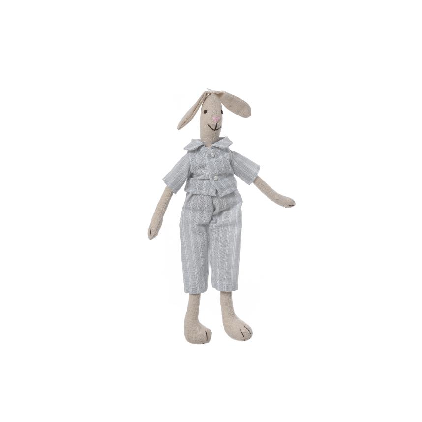 Кролик мальчик в костюме 35см M1203501A