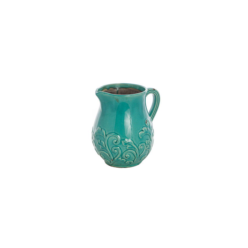 Кувшин керамический голубой P0124-A01
