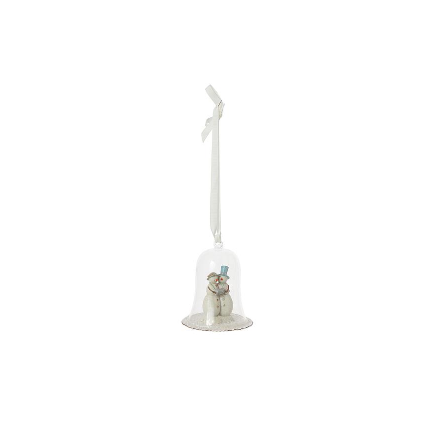 Подвеска снеговики в колокольчике 1013529BW