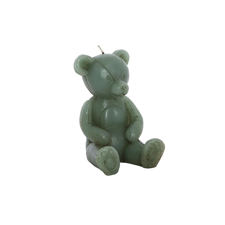 Свеча мишка зеленый 10х9х14 см F101425BB