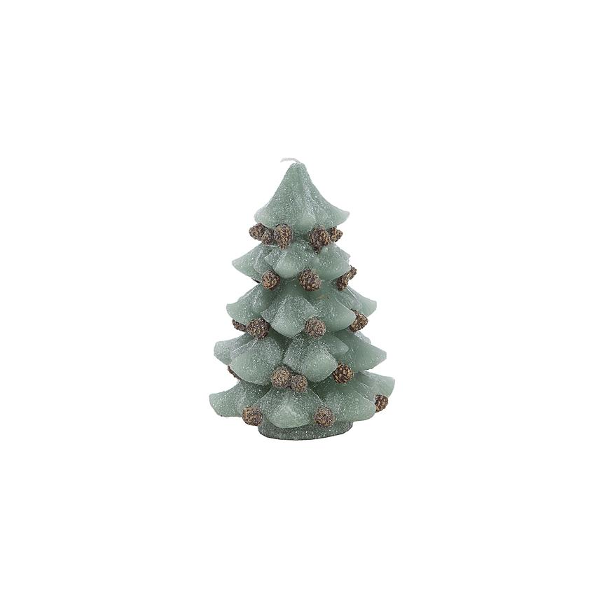 Свечка елка зеленая 11х11х15 см F10391BB