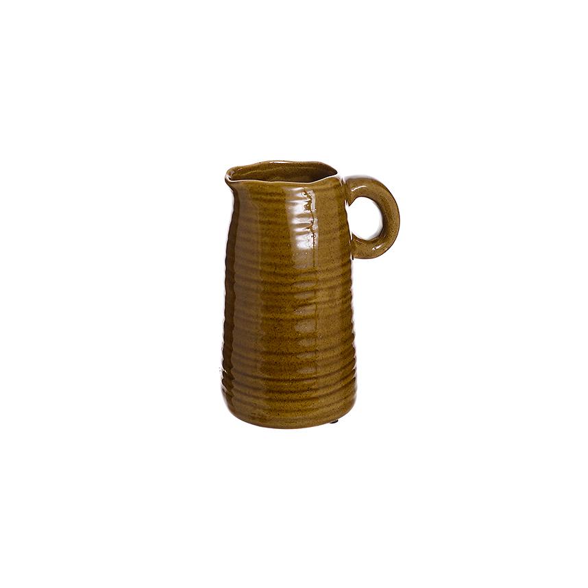 Ваза-кувшин керамический Коричневый цветок (20) L304