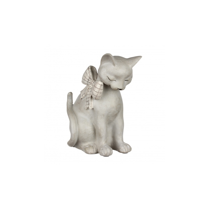 Статуэтка кошка с бантиком 15,5х12х20,5 QJ99-0047
