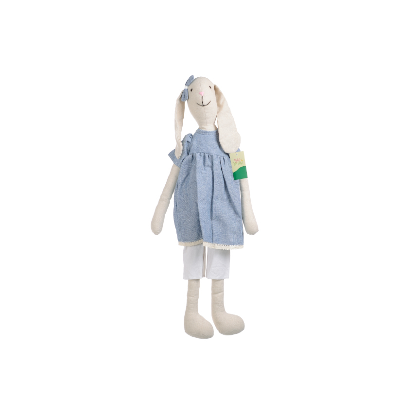 Кролик девочка в голубом платье 70см L1307001B