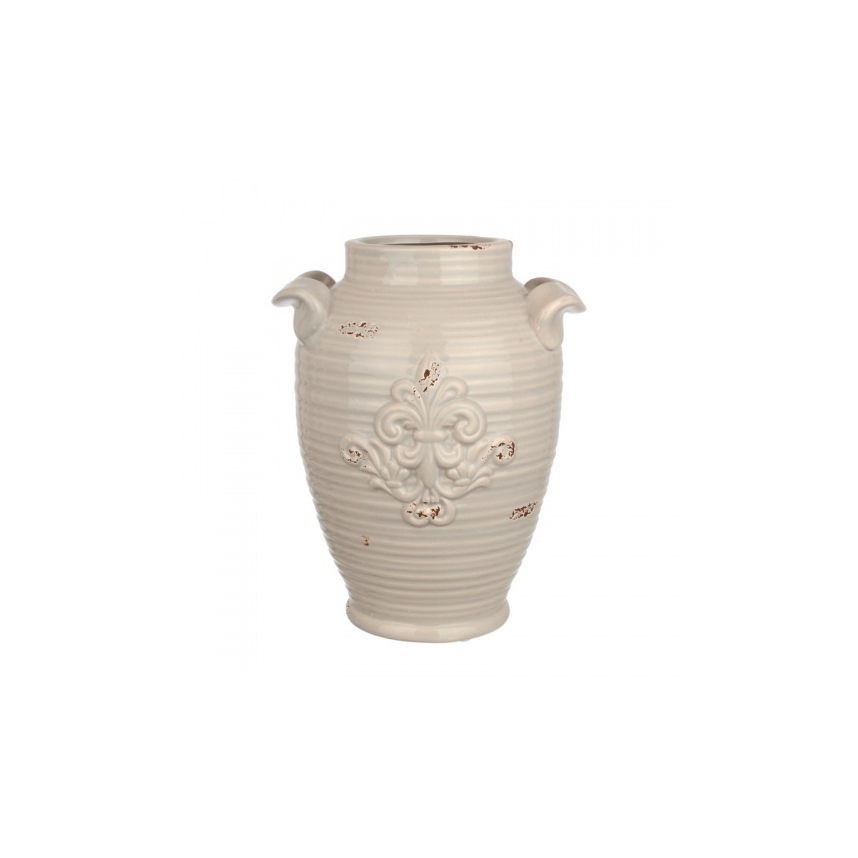 Ваза Керамическая серая 18х15х22 FD07-0013